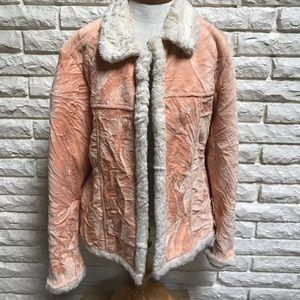 Wooly Bully Wear crushed velvet fleece jacket